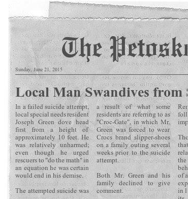 Petoskeytimes - local man killamo187 swandives